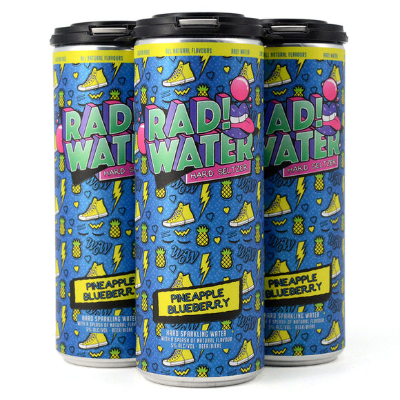 RAD! WATER HARD SELTZER PINEAPPLE BLUEBERRY 4C