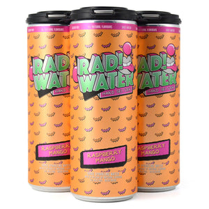RAD! WATER HARD SELTZER RASPBERRY MANGO 4C