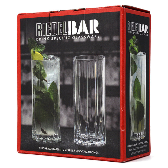 RIEDEL BAR HIGHBALL GLASSES SET OF 2
