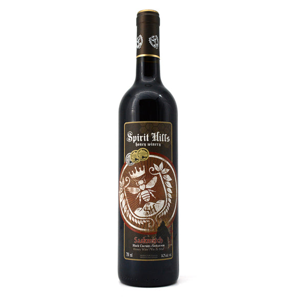 SPIRIT HILLS SASKWATCH BLACK CURRANT SASKATOON HONEY WINE 750ML