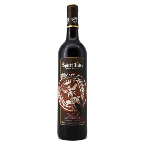 SPIRIT HILLS YEEHAA! COWBOY'S SANGRIA HONEY WINE 750ML