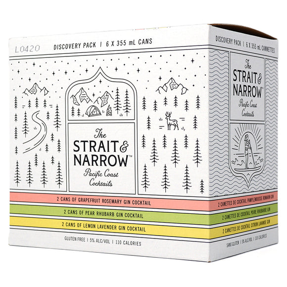 STRAIT & NARROW PACIFIC COAST COCKTAILS DISCOVERY PACK 6C