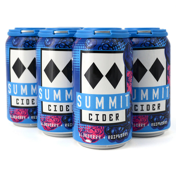 SUMMIT CIDER BLUE BALLS BLUEBERRY RASPBERRY CIDER 6C