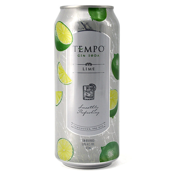TEMPO GIN SODA LIME 473ML