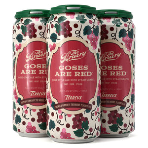 THE BRUERY GOSES ARE RED GOSE-STYLE ALE WITH SYRAH GRAPES 4C