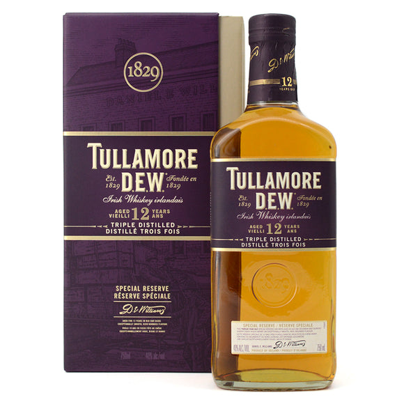 TULLAMORE D.E.W. SPECIAL RESERVE AGED 12 YEARS 750ML