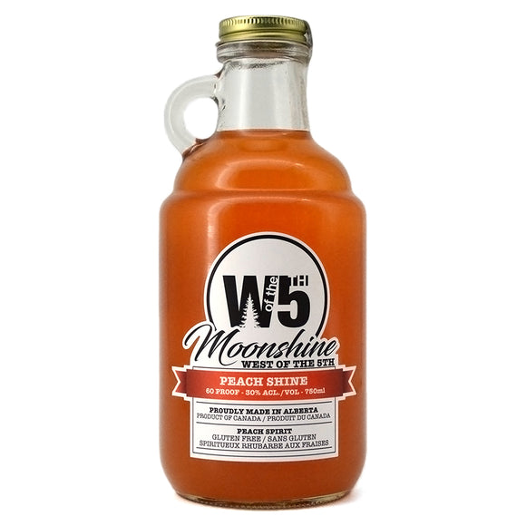 WEST OF THE 5TH MOONSHINE PEACH SHINE 750ML