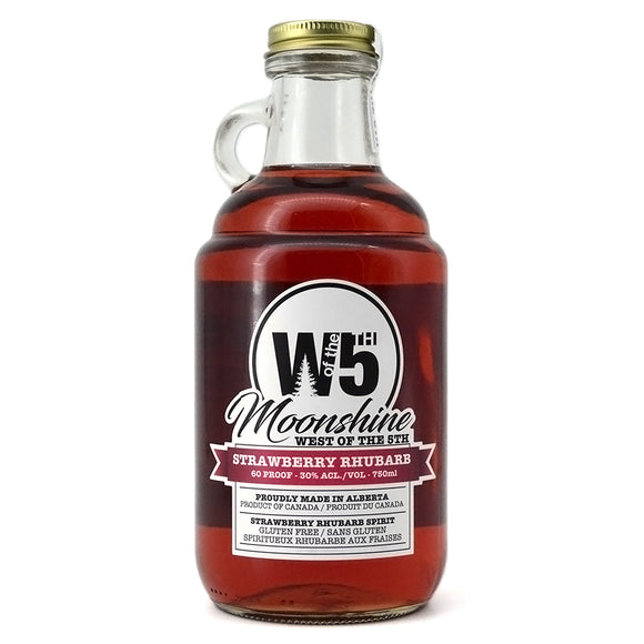 WEST OF THE 5TH MOONSHINE STRAWBERRY RHUBARB 750ML