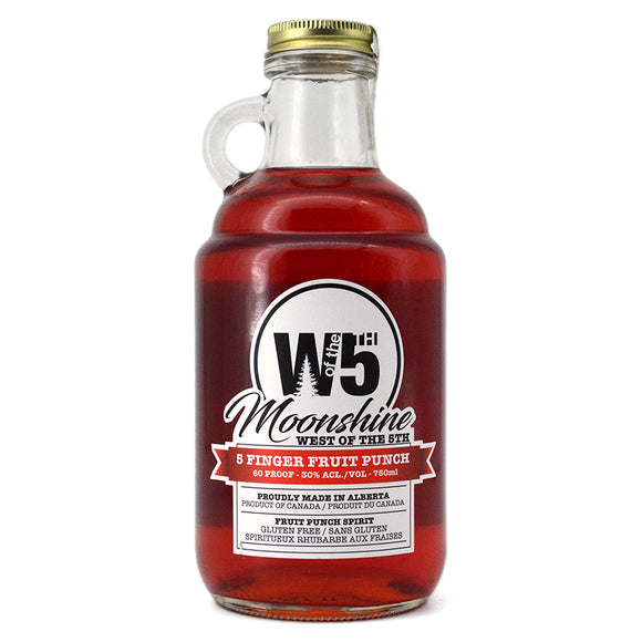 WEST OF THE 5TH MOONSHINE 5 FINGER FRUIT PUNCH 750ML