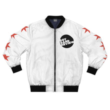 Load image into Gallery viewer, Boy Band review White Bomber Jacket