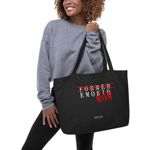 Emo Mom - Large organic tote bag