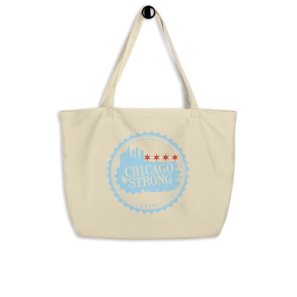 Chicago Strong - Large organic tote bag