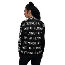 Load image into Gallery viewer, Feminist AF - Unisex Bomber Jacket
