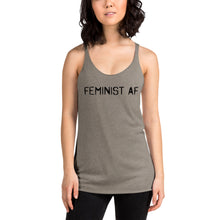 Load image into Gallery viewer, Feminist AF - Women's Racerback Tank Front and back printing