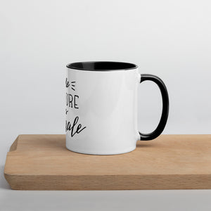 The Future is Female! Mug with colored Inside (4 colors available)