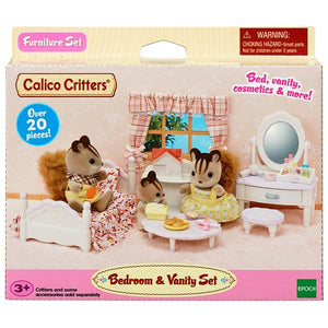 Calico Critters Bedroom and Vanity Set, Color: Multi-Color