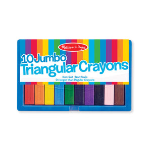 Melissa & Doug Jumbo Triangular Crayons - 10 Piece