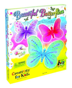 Creativity for Kids Beautiful Butterflies - Make Your Own Butterfly Wall Art & Decor (Packaging May Vary)