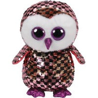 Checks TY Flip Sequin Owl Plush