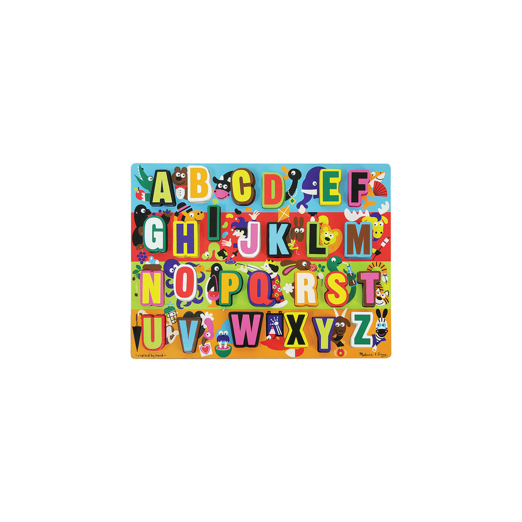 Melissa & Doug Jumbo ABC Wooden Chunky Puzzle (26pc)