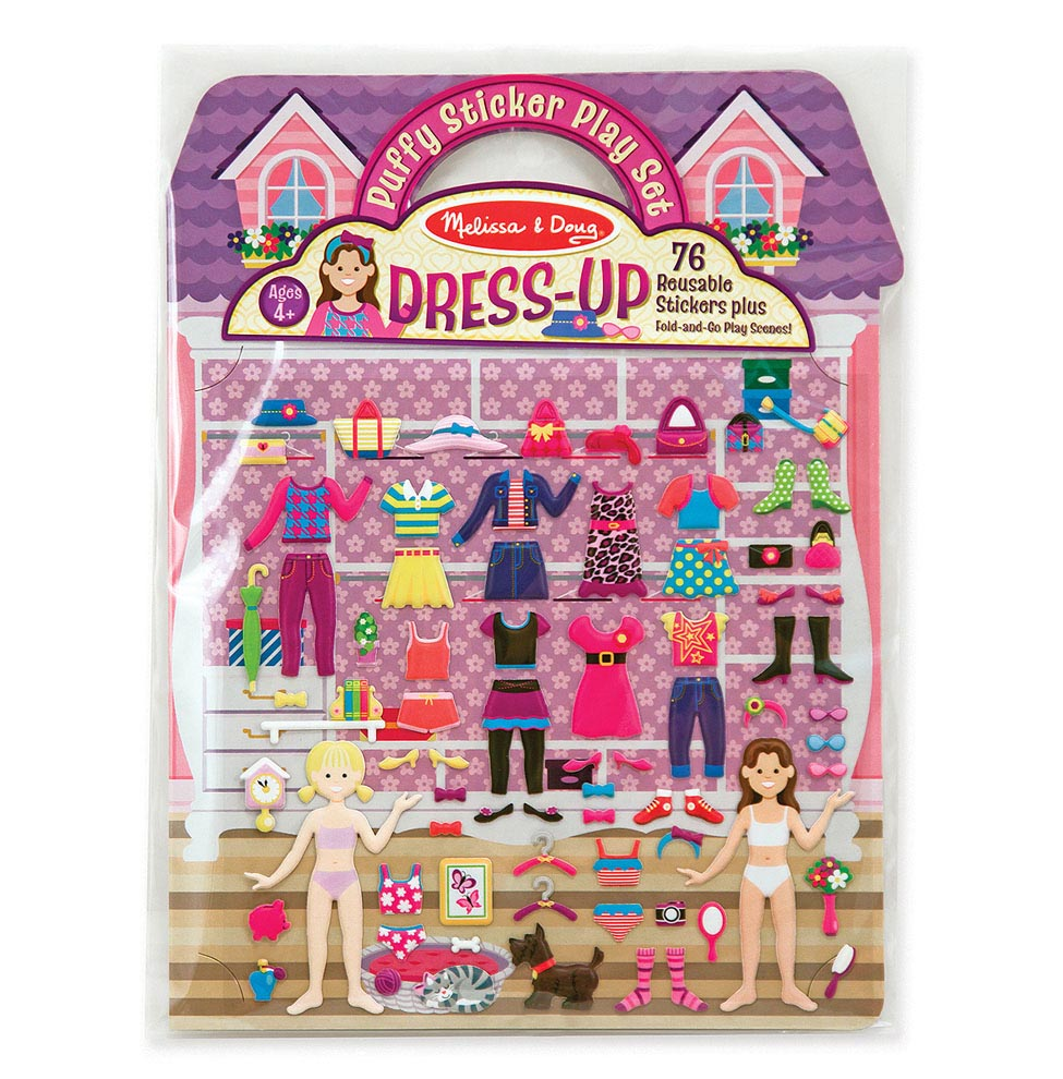 Melissa & Doug Puffy Sticker Play Set, Dress-up (Reusable Activity Book, 76 Stickers, Great for Travel, Great Gift for Girls and Boys - Best for...