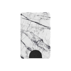 PopSockets Cell Phone PopWallet - White Marble