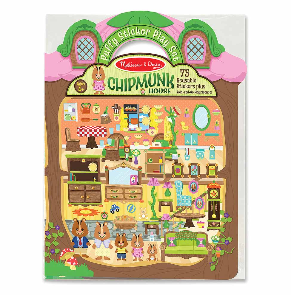Wholesale Melissa & Doug Puffy Stickers - Chipmunk House(48x$3.97)