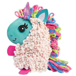 Alex Loopies Yarn and Plush Unicorn Kids DIY Craft Kit