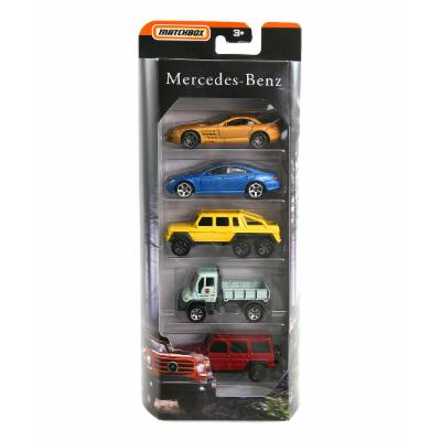 UPD Toy Cars and Trucks - Blue & Yellow Matchbox Mercedes Benz 5-Ct. Toy Car & Truck Set