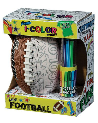 Franklin Sports I - Color Mini Football with 10 Marking Pens