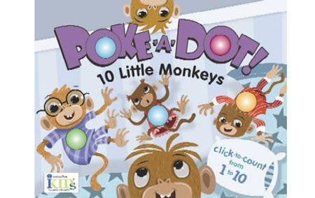 Melissa & Doug Poke-a-Dot Interactive Board Book, 10 Little Monkeys