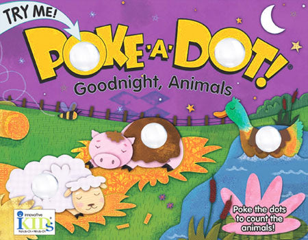 Melissa & Doug Poke-a-Dot Interactive Board Book, Good Night Animals