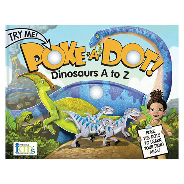 Melissa & Doug Poke-a-Dot Interactive Board Book, Dinosaurs: a to Z