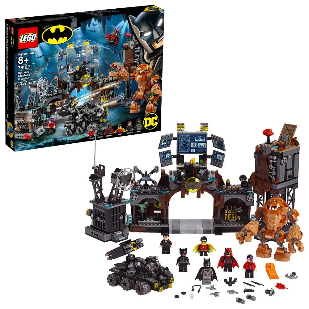 Lego Dc Batman Batcave Clayface Invasion 76122 Building Kit (1,037 Piece)