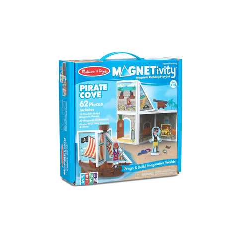 Melissa & Doug Pretend Play Educational Toys, Magnetivity Pirate Cove Building Set