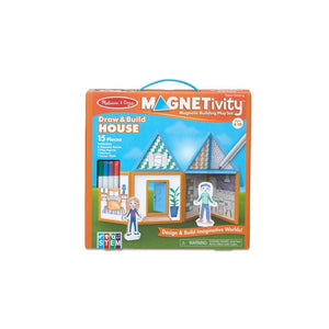 Melissa & Doug Children's Educational Toys, Magnetivity Draw & Build House