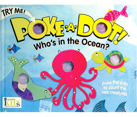 Melissa & Doug Poke-a-Dot Interactive Board Book, Who's in the Ocean