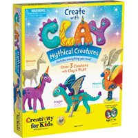 Create with Clay Mythical Creatures by Creativity for Kids