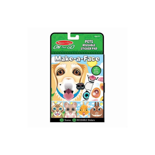 Make-a-Face Pets Reusable Sticker Pad - (Paperback)
