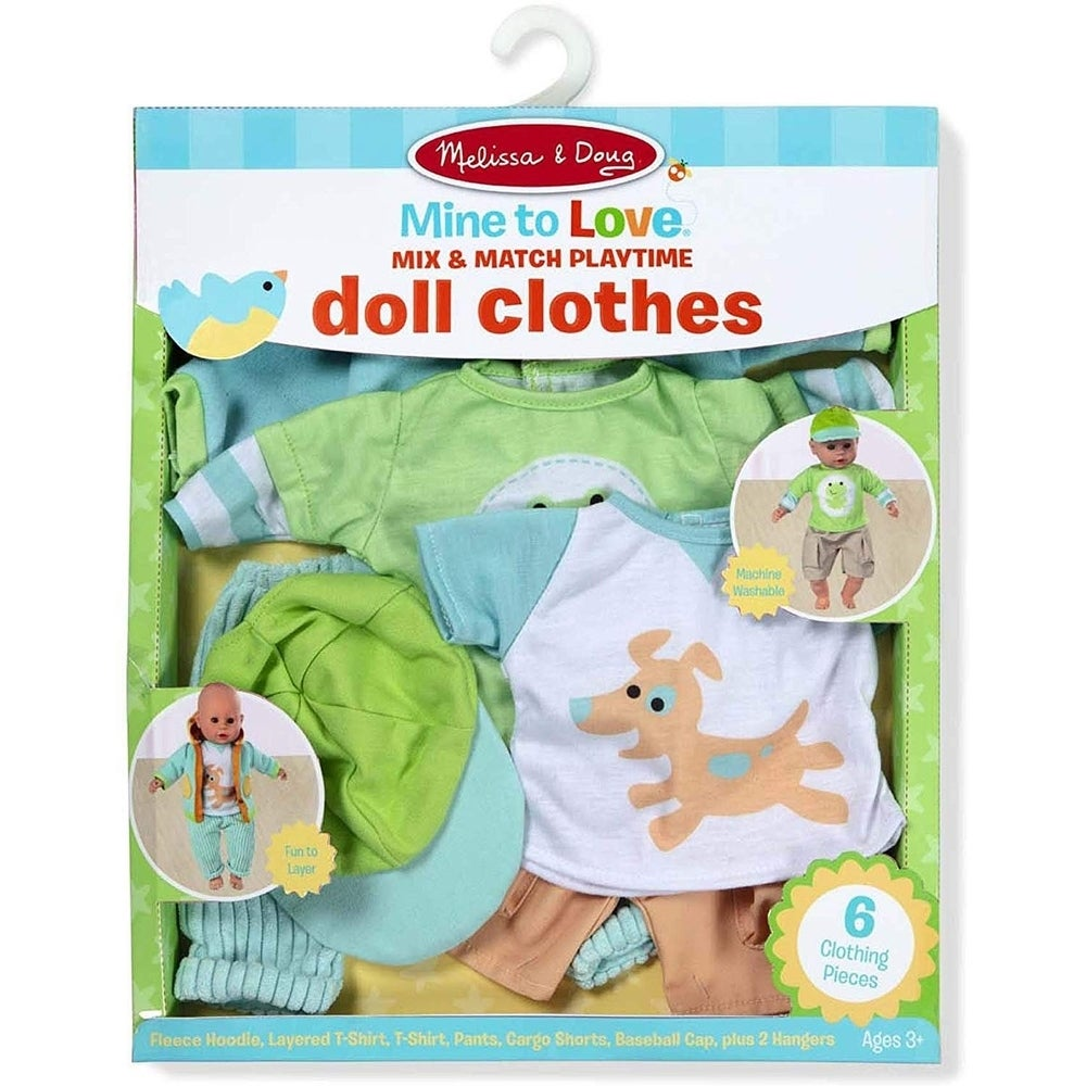 Melissa & Doug Mine to Love Mix & Match Playtime Doll Clothes