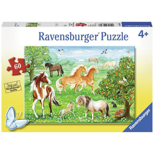 Ravensburger Jigsaw Puzzle Mustang Meadow - 60 Piece