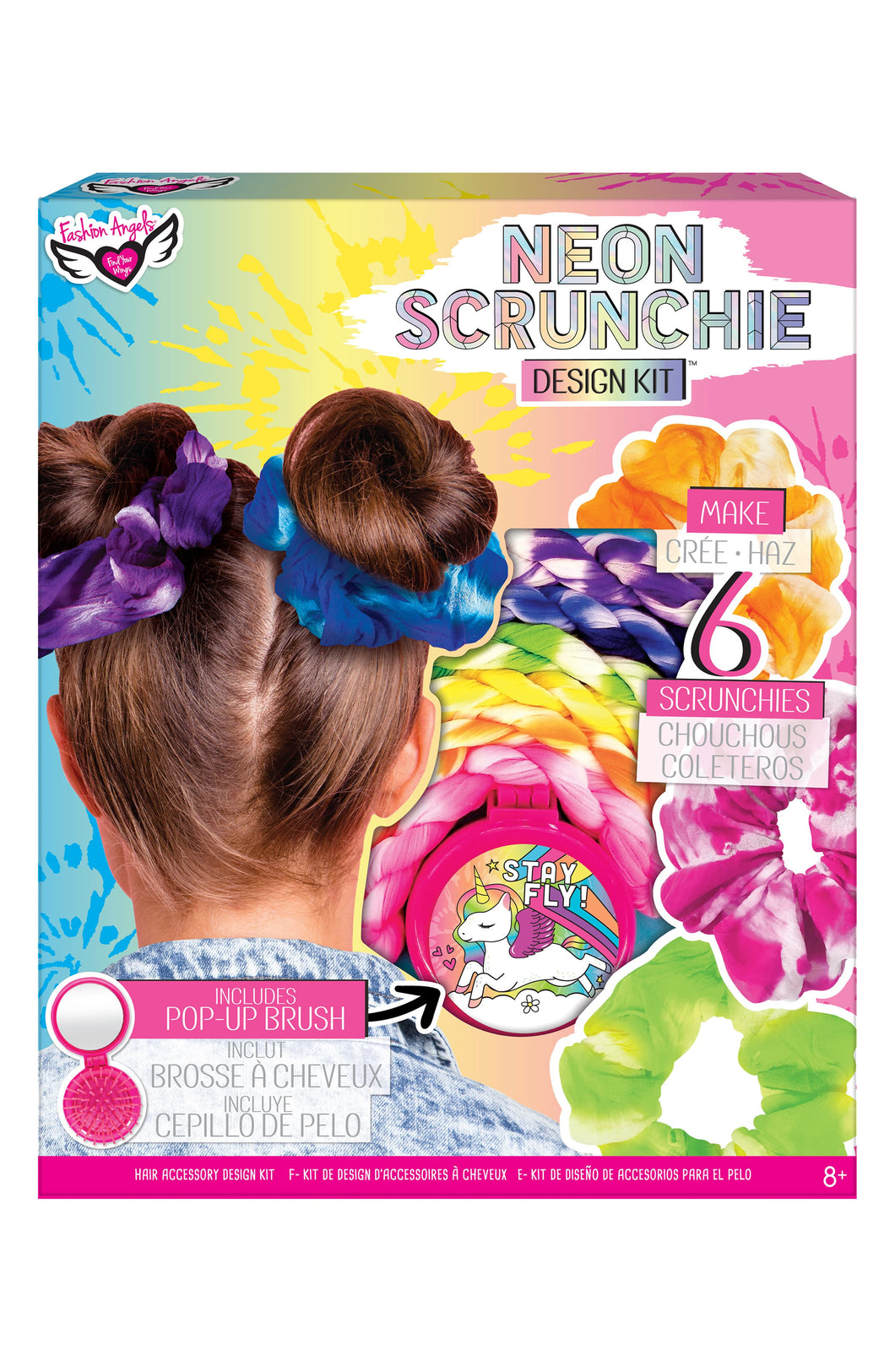 Fashion Angels Neon Tie Dye Scrunchies Kit