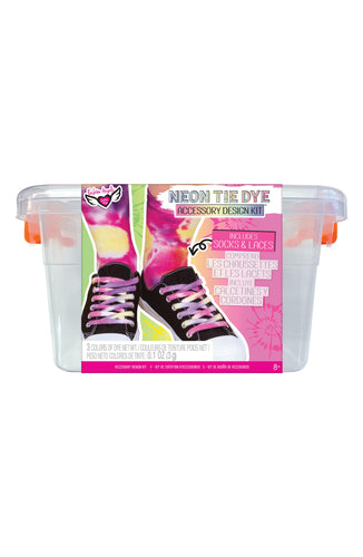 Girl's Fashion Angels Neon Tie Dye Accessory Design Kit