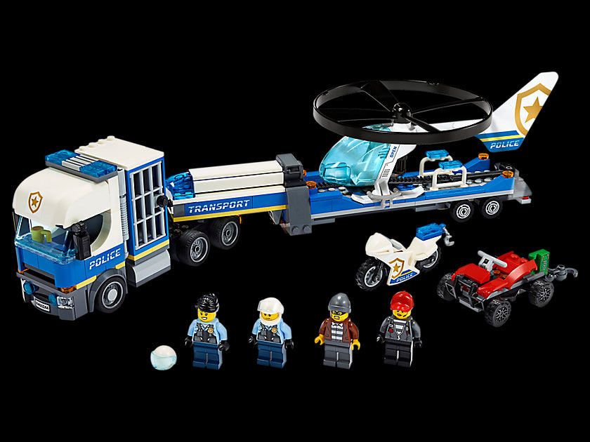 LEGO City Police Helicopter Chase 60244 Building Set for Kids