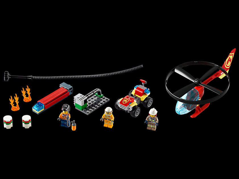 LEGO City Fire Helicopter Response 60248 Firefighter Building Set