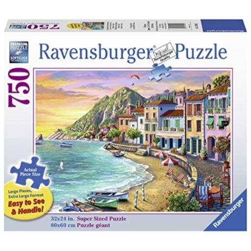 Ravensburger Romantic Sunset 19940 750 Piece Large Pieces Jigsaw Puzzle for Adults, Every Piece Is Unique, Softclick Technology Means Pieces Fit...