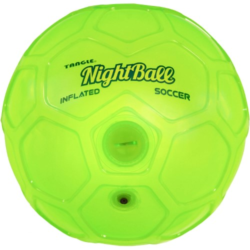 Nightball Inflated Soccer Ball - Green - Active Play for Ages 8 to 12 - Fat Brain Toys