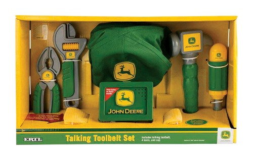TOMY John Deere Deluxe Talking Tool Belt Set