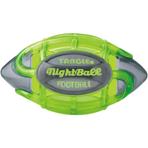 Tangle Night Football Small, Green Body/Gray Tips