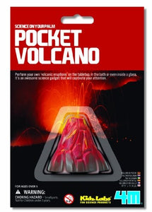 4M KidzLabs Pocket Volcano Science Experiment Kit Toysmith Manufactured by